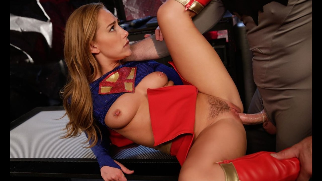 Supergirl gets nailed on table by hung batman